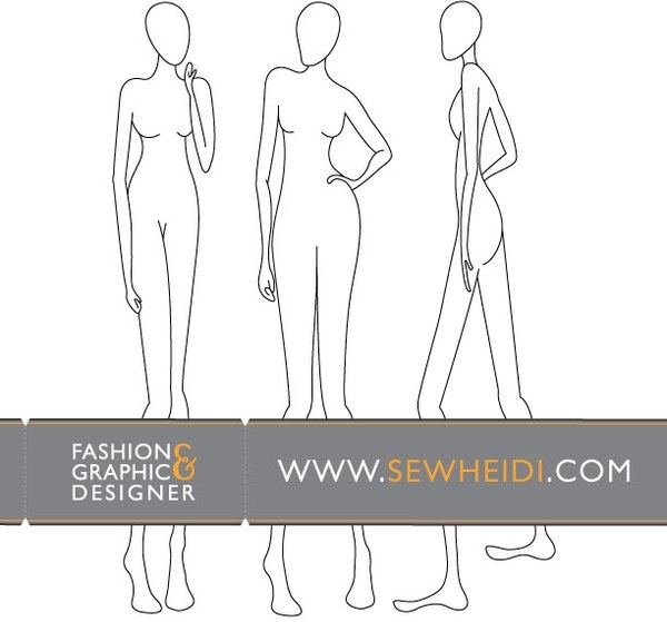 Female Fashion Croquis Blank Fashion Sketches Free Vector In Adobe Illustrator Ai Ai Vector Illustration Graphic Art Design Format Format For Free Download 1 007 01kb