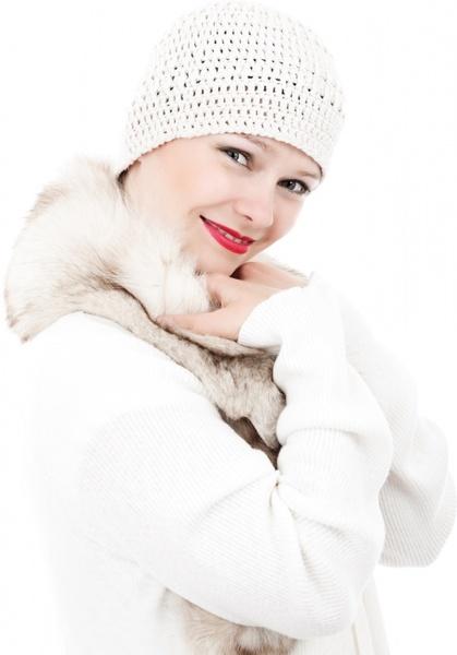 female model in winter