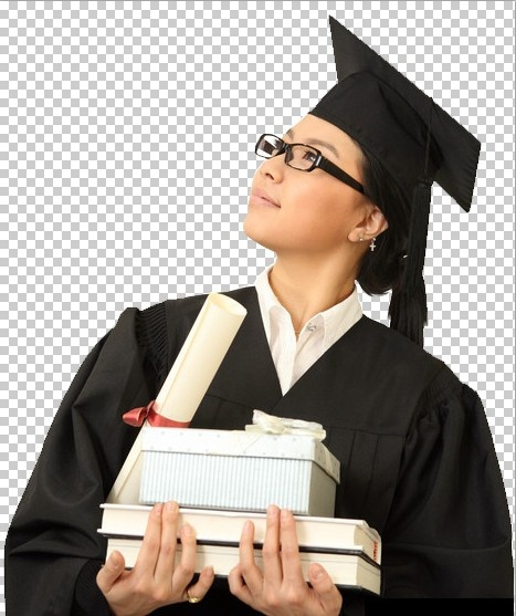female students wear glasses psd layered
