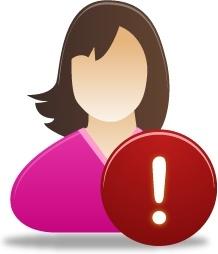 Female user warning