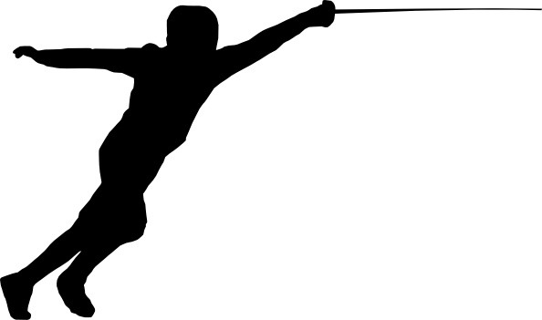 Fencing clip art Free vector in Open office drawing svg ...