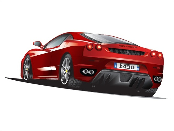 luxury red sports car vector illustration