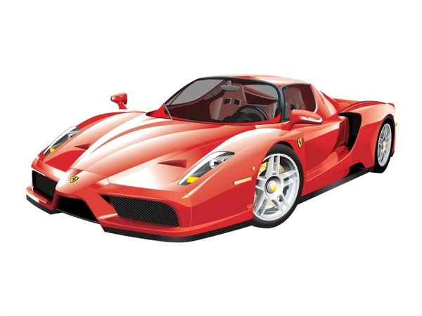red luxury sports car vector illustration