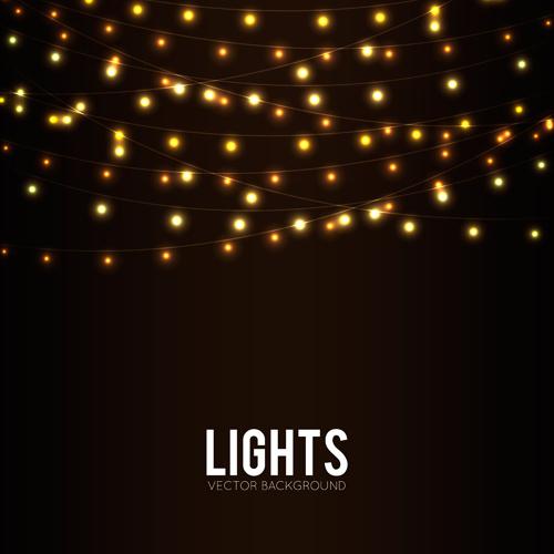 festival hanging lights vector background art free vector in