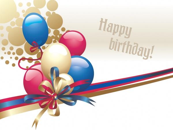 birthday banner shiny colorful balloon ribbon decor