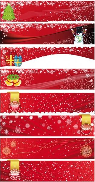 festive christmas banner vector