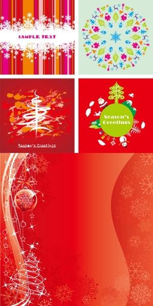 festive christmas card background vector