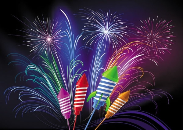Fireworks Cartoon Pictures Free Vector Download (18,357