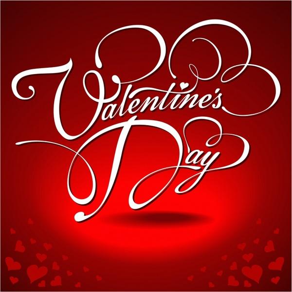 festive valentine background vector wordart