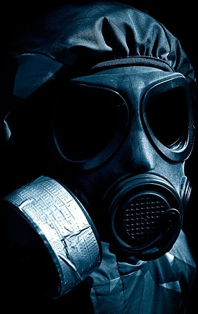 figure wearing a gas mask picture 3