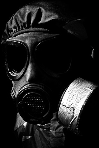figure wearing a gas mask picture 4
