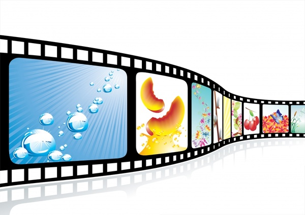 movie background film strip icon shiny colorful 3d