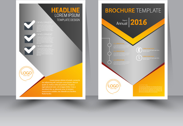 finance brochure template design with modern style