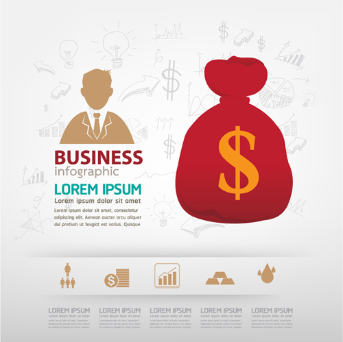 finance business template concept vector