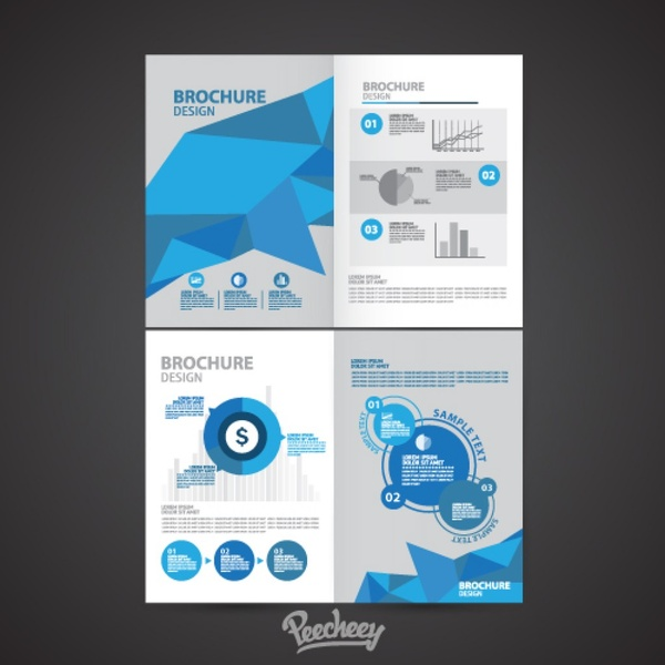 financial brochures free vector in adobe illustrator ai ai