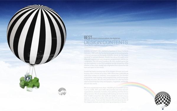 financial business layered template air hot air balloon