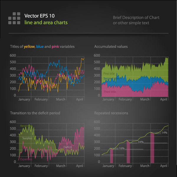 financial data chart free vector