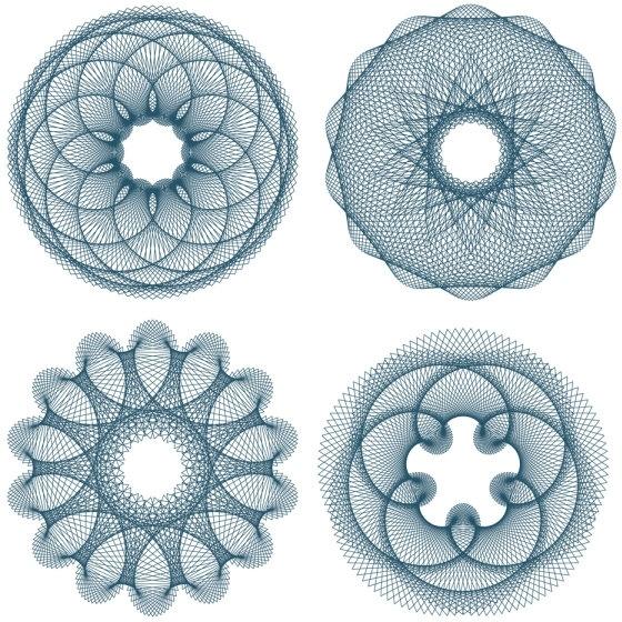 fine anticounterfeit pattern 02 vector