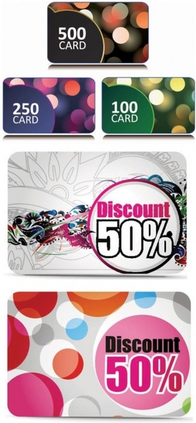 fine discount card vector