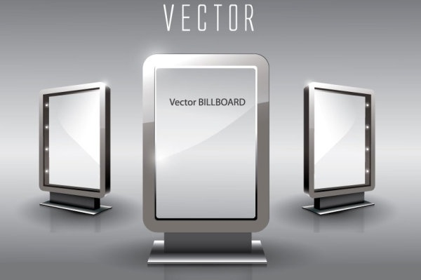 fine glass advertising boxes 05 vector