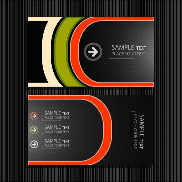 Fine lines background vector business card templates free vector in fine lines background vector business card templates accmission Gallery