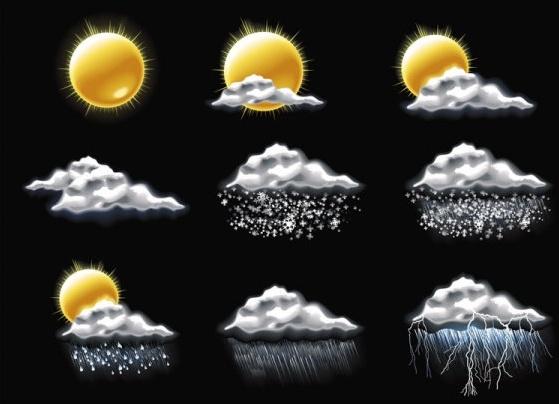 fine weather icon 05 vector