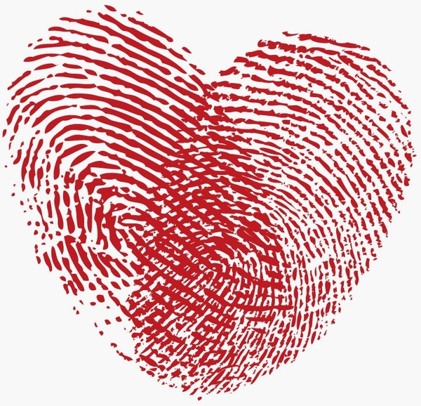 fingerprint heart vector graphic free vector in encapsulated