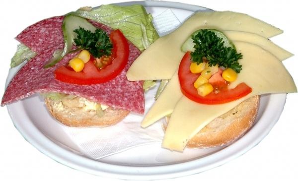 finished roll sandwich