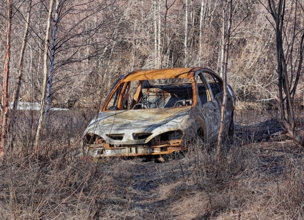 finland abandoned car auto