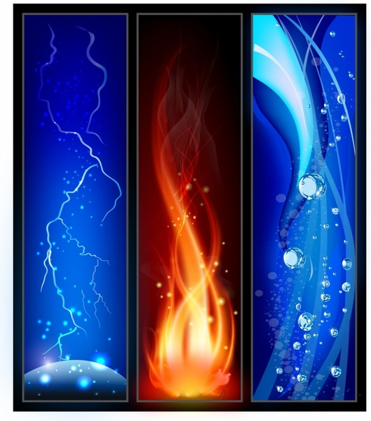 Fire, lightining and water