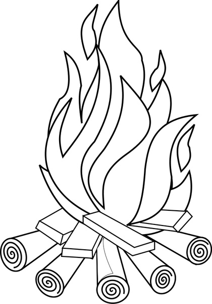 Open Office Drawing Lines : Fire line art free vector in open office drawing svg