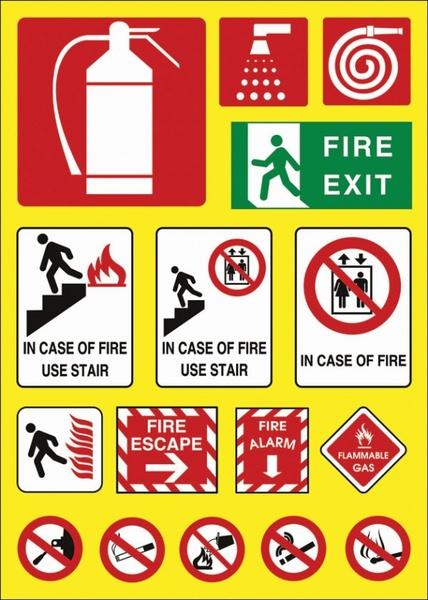 fire theme logo vector