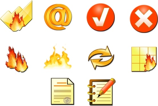 Fire Toolbar Icons icons pack