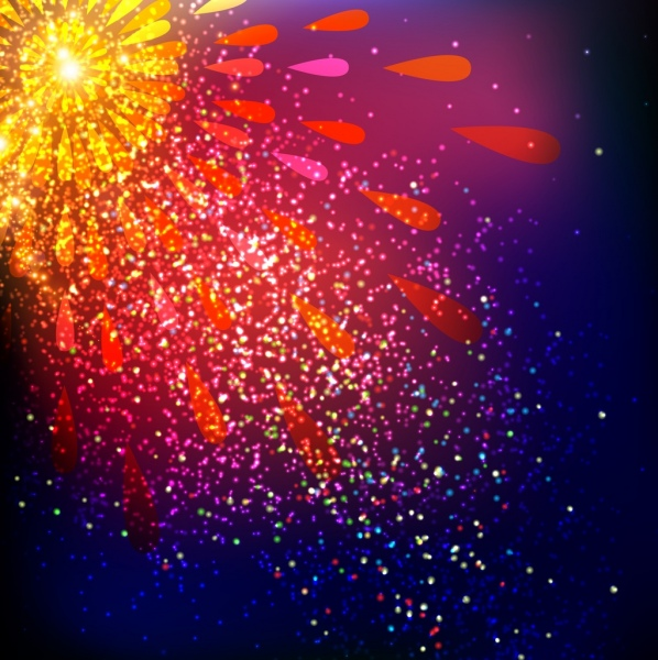 fireworks background template colorful sparkling decoration free