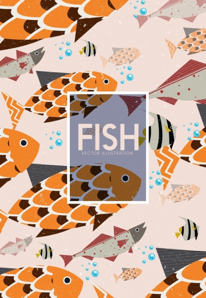 fish background colored classical design