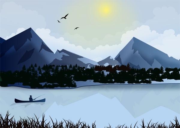 fisherman lake winter