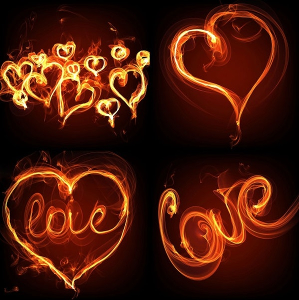 flame effect of romantic heartshaped hd photo 3