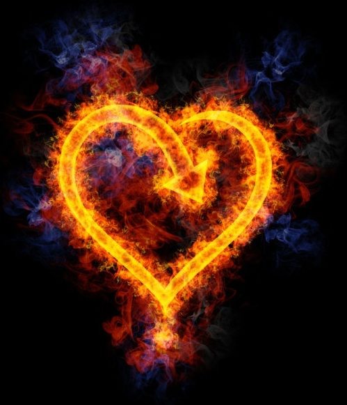 flame heartshaped definition picture