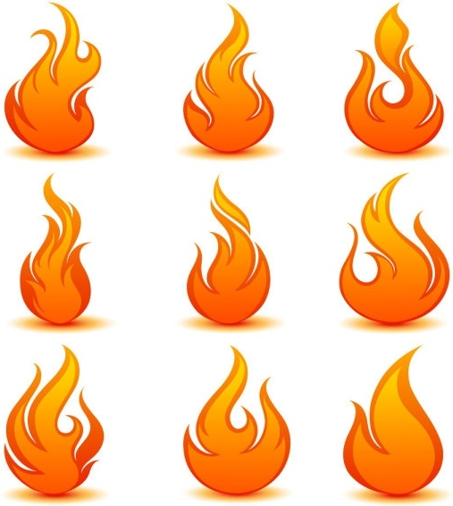 flame icon 04 vector