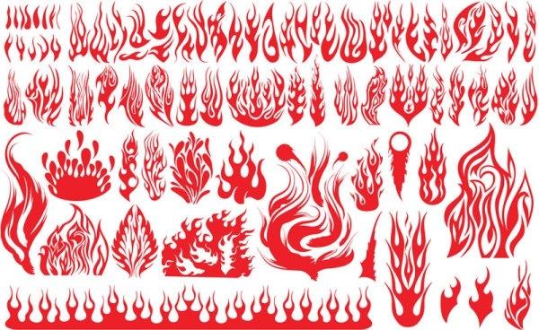 Flame pattern vector Free vector in Adobe Illustrator ai (  ai