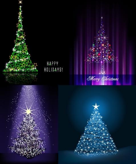 flash christmas tree vector