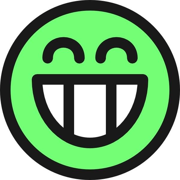 Flat Grin Smile Emotion Icon Emoticon clip art