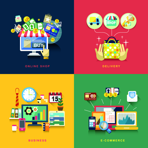 flat infographics icons creative vector