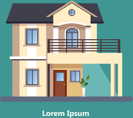 Flat Roof House Free Vector Download 6 592 Free Vector