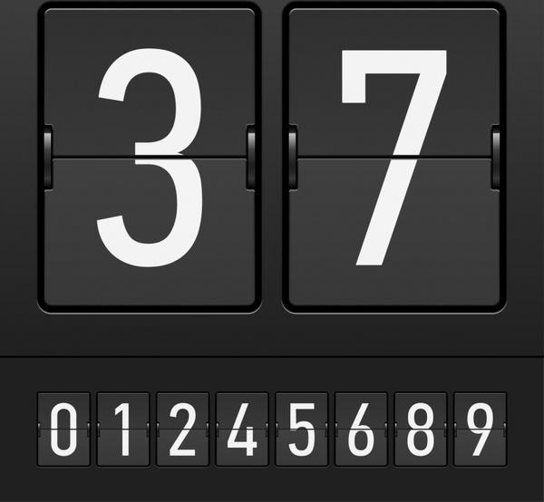 score board template black white modern design