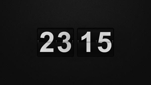 Flip Wall Clock PSD