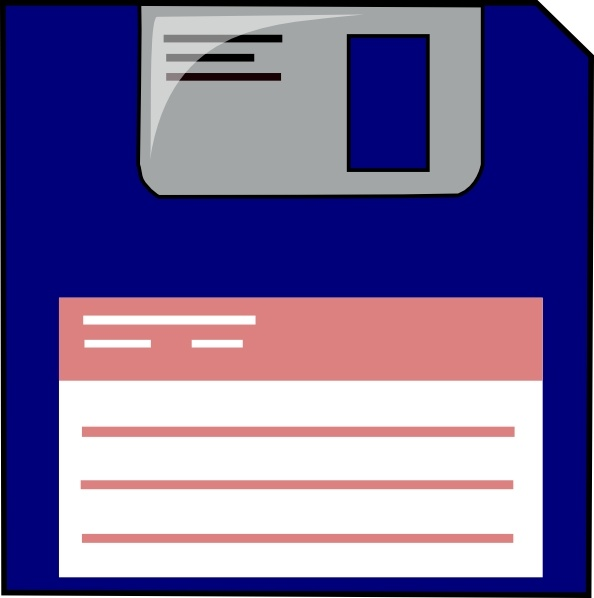 Floppy Disk clip art Free vector in Open office drawing ...