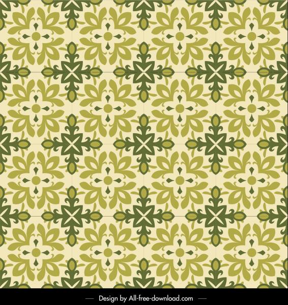flora pattern template classical symmetric repeating petals decor