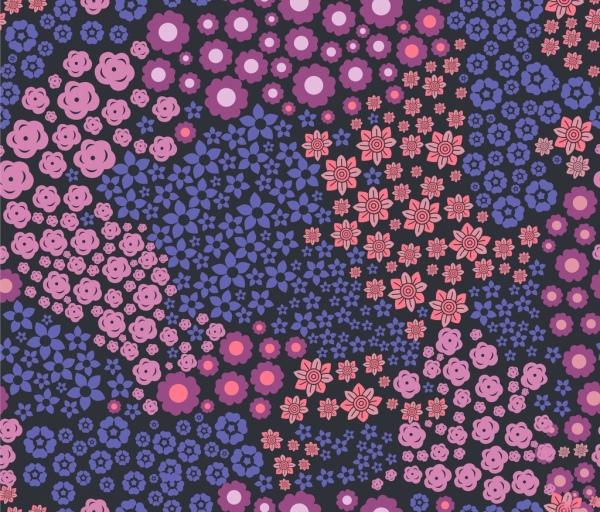 floral background design various pink violet flowers decoration