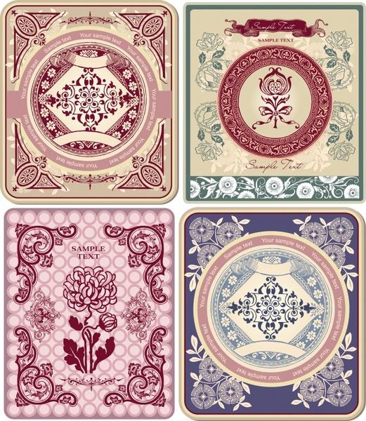 decorative patterns elegant oriental vintage symmetric design